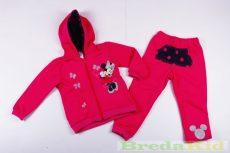 Disney Minnie Bolyhos Szabadidő (Pöttyös kapucnis, Világosszürke, Rózsa, Pink)(74cm, 80cm, 104cm)
