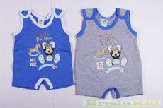 Disney Mickey Bébi Ujjatlan Napozó (Kék, Szürke, Fehér)