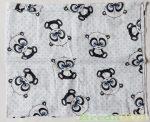 Mintás Textilpelenka (Nagy Pandás)(Kék, Szürke) UTOLSÓ DARABOK