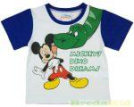 Disney Mickey Rövid Ujjú Póló (Kék, Zöld)(Dinós)
