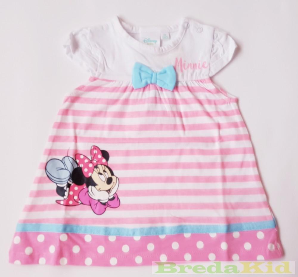 Disney Minnie Bébi Rövid Ujjú Ruha (Masnis Csikos) - BredaKid ... d013c5cb9d