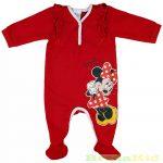 Disney Minnie Bébi Egybe Rugdalózó (Piros Fodros)