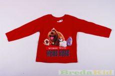 A Kis Kedvencek Titkos Élete Hosszú Ujjú Póló (92/98cm, 1,5-2 év, Piros) UTOLSÓ DARAB