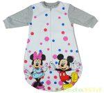 Disney Minnie & Mickey Bébi Egybe Bolyhos Hálózsák (Rózsaszín, Pink, Szürke) (Pöttyös)(68/74cm, 80/86cm) UTOLSÓ DARABOK