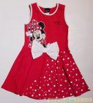 Disney Minnie Ujjatlan Nyári Ruha (Piros Masnis, Fehér/Piros Masnis)
