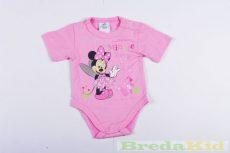 Disney Minnie Bébi Rövid Ujjú Body (Egyszínű)(Rózsaszín, Fehér)