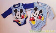 Disney Mickey Bébi Hosszú Ujjú Body (50cm, 68cm, Kék) UTOLSÓ DARABOK