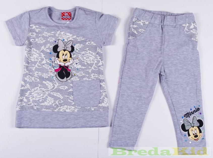 3bebe0fe44 Disney Minnie Csipkés Hatású Rövid Ujjú Póló/Tunika és Leggings Szett