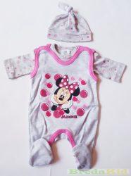 Disney Minnie Bébi 3 Részes Szett (Body, Rugdalozó, Sapka)(50cm, 68cm) UTOLSÓ DARABOK