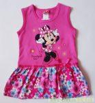 Disney Minnie Ujjatlan Nyári Ruha (Virágmintás)(Fehér, rózsaszín)