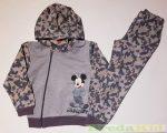 Disney Mickey Terepmintás Kapucnis Szabadidő (68cm, 74cm, 110cm, Szürke) UTOLSÓ DARABOK