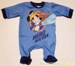 Disney Mickey Bébi Egybe Rugdalozó (Tűzoltós)(Középkék, Világoskék)