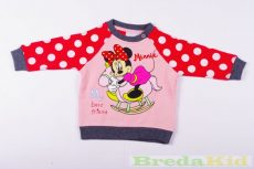 Disney Minnie Bébi Bolyhos Pulóver (Pöttyös)(86cm, 1-1,5 év, Rózsaszín) UTOLSÓ DARAB