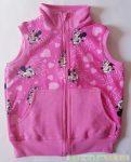 Disney Minnie Bébi Vékony Pamut Mellény (Telimintás)(Rózsaszín, Szürke)(74cm, 80cm)