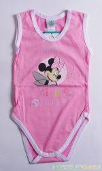 Disney Minnie Bébi Ujjatlan Body (86cm, 1-1,5 év, Rózsaszín/Fehér) UTOLSÓ DARAB