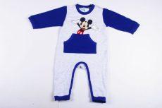 Disney Mickey Bébi Egybe Rugdalózó (80cm, 1 év, Szürke/Kék) UTOLSÓ DARAB
