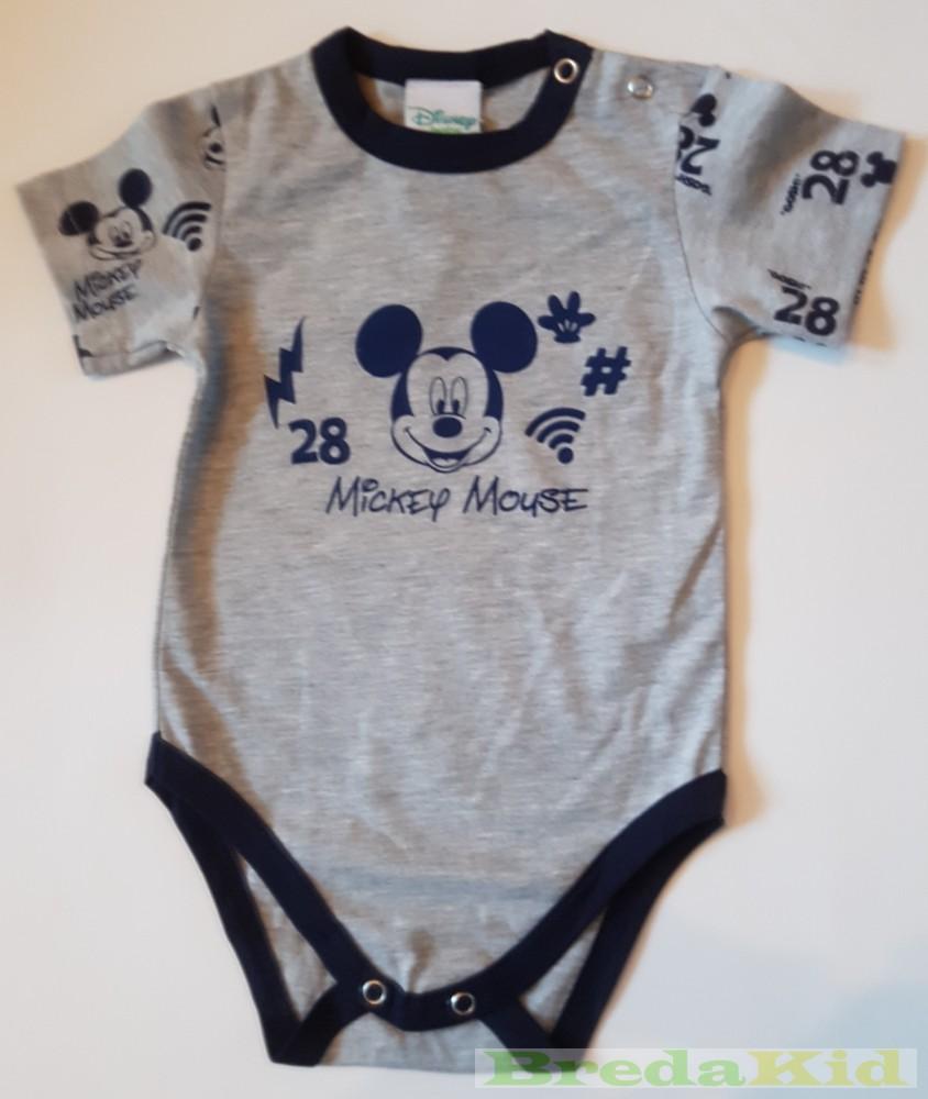 Disney Mickey Bébi Rövid Ujjú Body (Szürke) - BredaKid Gyerekruha ... aa7da6cd32