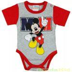 Disney Mickey Rövid Ujjú  Body (M Piros)