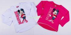 Disney Minnie Hosszú Ujjú Póló (Alul Csipkés)(Fehér, Rózsa, Pink)