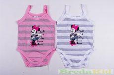 Disney Minnie Bébi Spagettipántos Csíkos Body