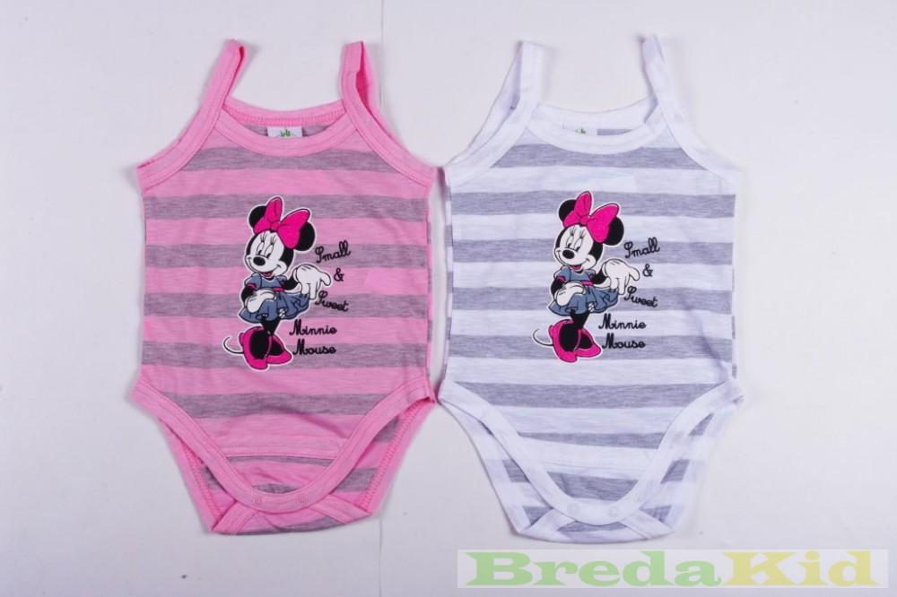 Disney Minnie Bébi Spagettipántos Csíkos Body - BredaKid Gyerekruha ... 4712fc2085