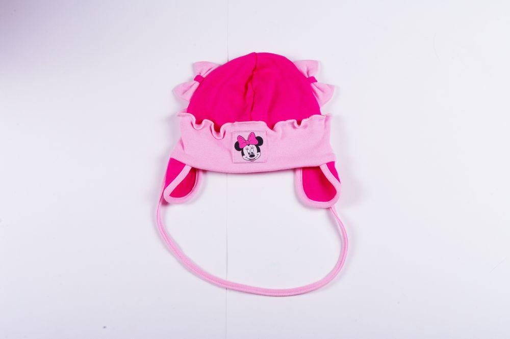 77fb30d330 Disney Minnie Pamut Megkötős Sapka Fülvédővel (98cm, 2 év, Pink) UTOLSÓ  DARAB