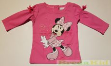 Disney Minnie Bébi Hosszú Ujjú Póló (80cm, 1 év, Rózsa) UTOLSÓ DARAB