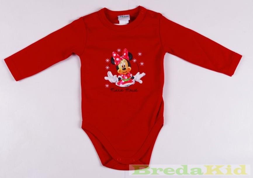 Disney Minnie Bébi Hosszú Ujjú Body (Karácsonyi Egyszínű)(Piros ... d8a59a421c