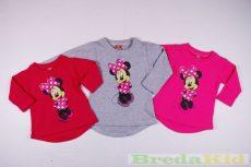 Disney Minnie Bébi Bolyhos Pulóver (Pink, Szürke, Rózsaszín)