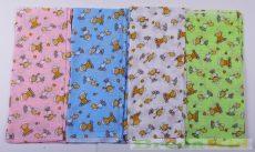Mintás Textilpelenka (Telimintás Bárányos)(Rózsaszín, Kék) UTOLSÓ DARABOK