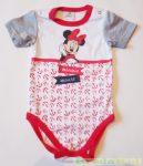 Disney Minnie Bébi Rövid Ujjú Body (Piros Matrózmintás)(Fehér, Szürke, Piros)(80cm, 86cm) UTOLSÓ DARABOK