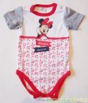 Disney Minnie Bébi Rövid Ujjú Body (Piros Matrózmintás)(Fehér, Szürke, Piros)(80cm, 12 hó) UTOLSÓ DARABOK
