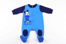 Disney Mickey Bolyhos Overál Pizsama / Talpas Egybe Rugdalozó (68cm, 74cm, 80cm, 98cm)