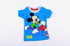 Disney Mickey Bébi Rövid Ujjú Póló (62/68cm, 3-6 hó, kék) UTOLSÓ DARAB