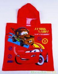 Disney Verda Bébi Poncsó (1-2 éves korig)(50X100cm)(Piros) UTOLSÓ DARABOK