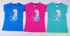 Disney Jégvarázs Rövid Ujjú Póló (Kék,Rózsaszín,Zöld, Fehér)