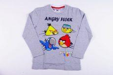 Angry Birds Hosszú Ujjú Póló (122cm, 6 év, Szürke) UTOLSÓ DARAB