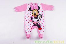 Disney Minnie Bébi Bolyhos Egybe Rugdalózó (Pöttyös Cicás)(50cm, Rózsaszín Lábfejes) UTOLSÓ DARAB