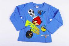 Angry Birds Hosszú Ujjú Póló (104cm, 110cm, 134cm, Kék) UTOLSÓ DARABOK
