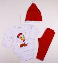 Disney Minnie Bébi 3 Részes Szett (Karácsonyi)(Body, Nadrág, Sapka)