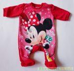 Disney Minnie Bébi Bolyhos Egybe Rugdalózó (Karácsonyi)(Mikulás Ruhás)