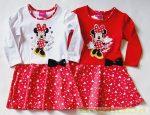 Disney Minnie Hosszú Ujjú Ruha (Szívecskés)(Fehér/Piros, Piros)