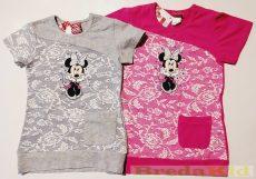 Disney Minnie Csipkés Hatású Rövid Ujjú Póló/Tunika (Pink, Szürke)(80cm, 104cm, 116cm, 122cm) UTOLSÓ DARABOK
