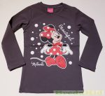 Disney Minnie Hosszú Ujjú Póló (Szürke, Fekete)