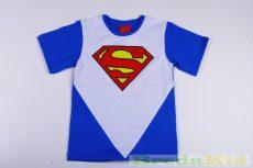 Superman Rövid Ujjú Póló (Kék, Szürke)
