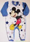 Disney Mickey Bébi Egybe Bolyhos Rugdalózó (Csillagos)(80cm, 1 év, Világoskék, Lábfejnélküli) UTOLSÓ DARAB