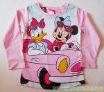 Disney Minnie és Daisy Kacsa Hosszú Ujjú Póló (Rózsaszín, Zöld)