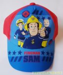 Sam, a Tűzoltó Bébi Baseball Sapka (48cm, 50cm, Piros) UTOLSÓ DARABOK