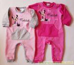 Disney Minnie Bébi Bolyhos Egybe Rugdalózó (Zsebes)(Rózsaszín/Szürke, Pink)