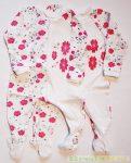 Lány Pillangós/Virágos Overál Pizsama / Talpas Egybe Rugdalozó (74cm, 80cm, 86cm) UTOLSÓ DARABOK